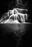 black and white waterfall nature season spring - 214951496