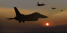 Avion De Chasse - Guerre - Avion - Escadrille - F16 -combat Aérien - Militaire - Opération - Américain