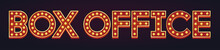 Box Office Banner Alphabet Sign Marquee Light Bulb Vintage