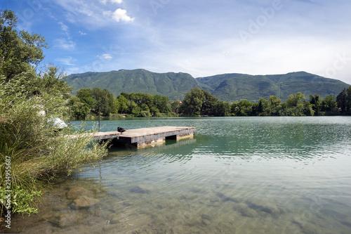 Fotobehang Meer / Vijver lake of telese,Benevento.