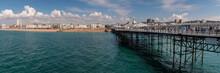 Panorama Of Brighton Coastline...