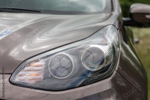 Spoed Foto op Canvas Stadion Modern car headlights.