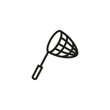 Fishing Net Line Icon. Industry, Equipment, Nautical. Fishing Concept. Vector Illustration Can Be Used For Topics Like Fishing Gear, Tool, Fishery