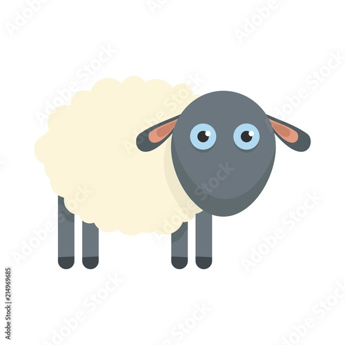 Fotobehang Boerderij Cute sheep icon. Flat illustration of cute sheep vector icon for web isolated on white