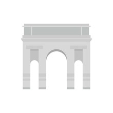 Milan Arch Icon. Flat Illustration Of Milan Arch Vector Icon For Web Isolated On White