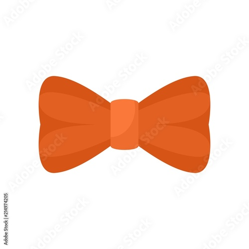 Orange bow tie icon Canvas Print