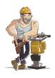 Hombre trabajando obrero