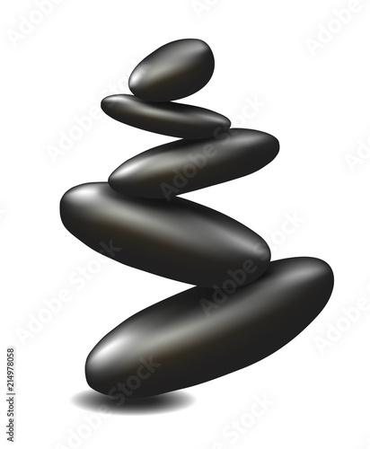 równowaga kamieni spa