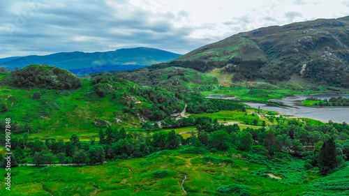 Keuken foto achterwand Groene Beautiful landscape in the Scottish Highlands