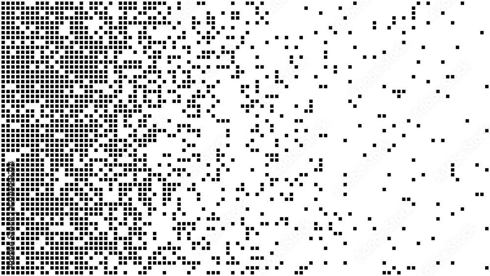 Fototapeta Abstract pixel gradient background. Falling pixels. Broken texture. Abstract vertical gradient halftone. Vector illustration.