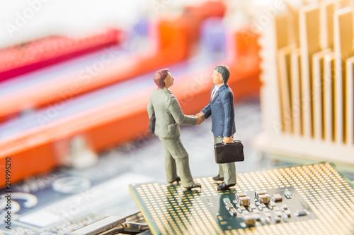 Fotografie, Obraz  Information Technology security or IT success concept