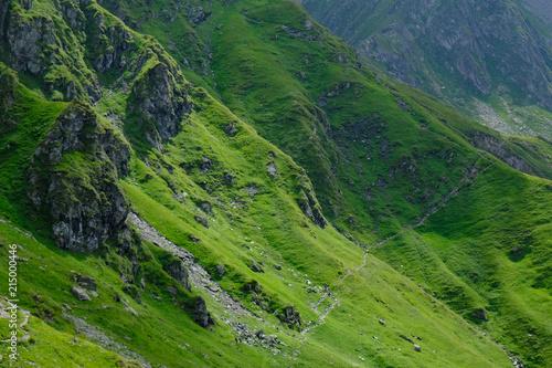 Fototapeta Rumunia, Karpaty Rumuńskie - Góry Fagaras, trawers Turnul  Vartopul obraz na płótnie