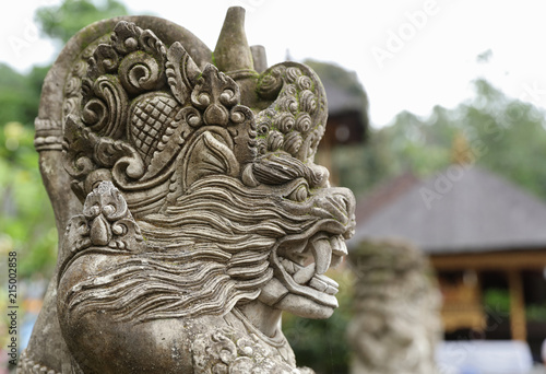 Papiers peints Indonésie Balinese ancient stone sculpture. Bali, Indonesia.