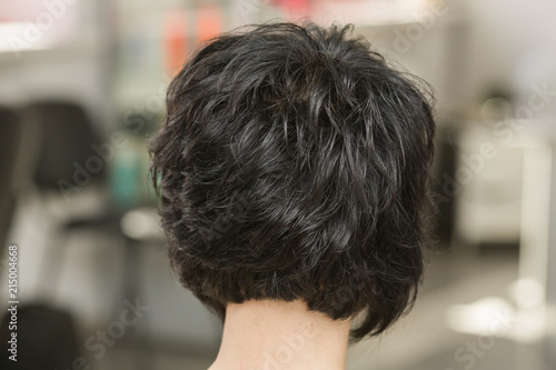 Deurstickers Kapsalon Hairstyle in style of a care