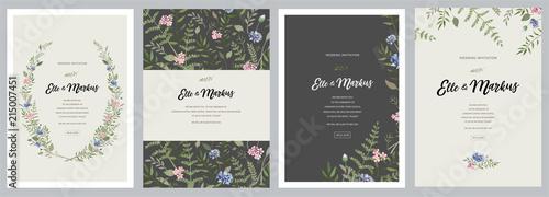 Obraz na płótnie Design greeting card \ wedding invitations, floral frames for your vintage poste
