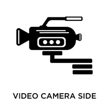 Video Camera Side View Icon Isolated On White Background. Modern And Editable Video Camera Side View Icon. Simple Icons Vector Illustration.