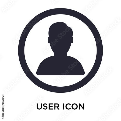 user icon on white background Canvas Print