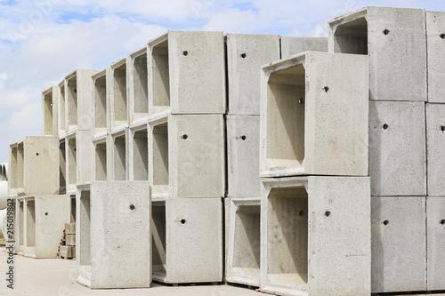 Fényképezés  Concrete drain Square shape