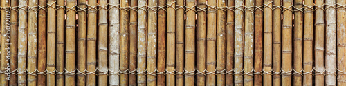Bamboo wood wide horizontal wall pattern texture for banner or website ads background
