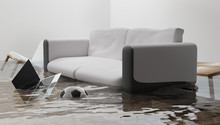 Flooded Water Damage Due To Fl...