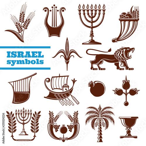 Israel culture, history, judaism religion symbols Canvas Print
