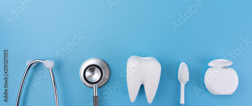 Valokuva  Dental concept healthy equipment  tools dental care Professional  banner