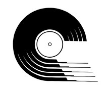 Vinyl Record Icon. Simple Illustration Of Vinyl Record Vector Icon For Web Design Isolated On White Background