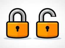 Vector Padlocks Design Icon Co...