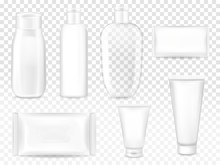 Cosmetic Packages Vector Illus...