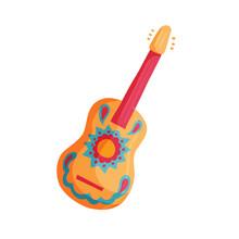 Mexican Guitar Vector Icon