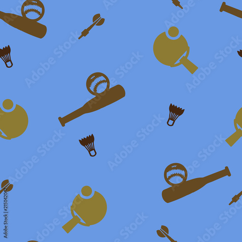 Photo  Sport games pattern seamless