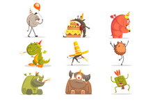 Monsters On Birthday Party In ...