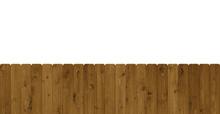 Isolierter Breiter Holzzaun