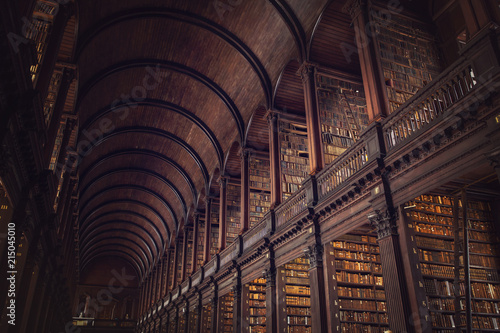 Photo DUBLIN, IRELAND -  JULY 14, 2018: The Long Room in the Trinity College Library on July 14, 2018 in Dublin, Ireland