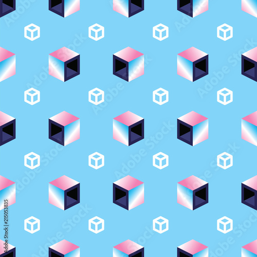 geometryczne-3d-kostki-na-niebieskim-tle-wzor-jednolite-wzor-wielokolorowe-kostki-w-stylu-retro-kompozycja-abstrakcyjna-geome
