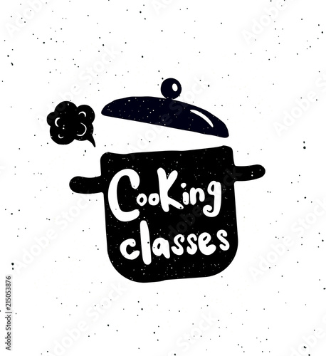 Cooking classes poster.