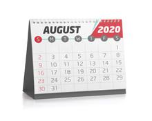 Office Calendar August 2020