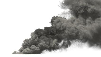 large smoke on white background