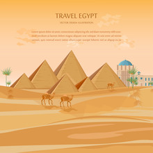 Egypt Pyramids Card Background...