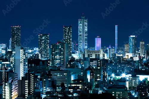Spoed Foto op Canvas Tokio 東京・池袋の夜景