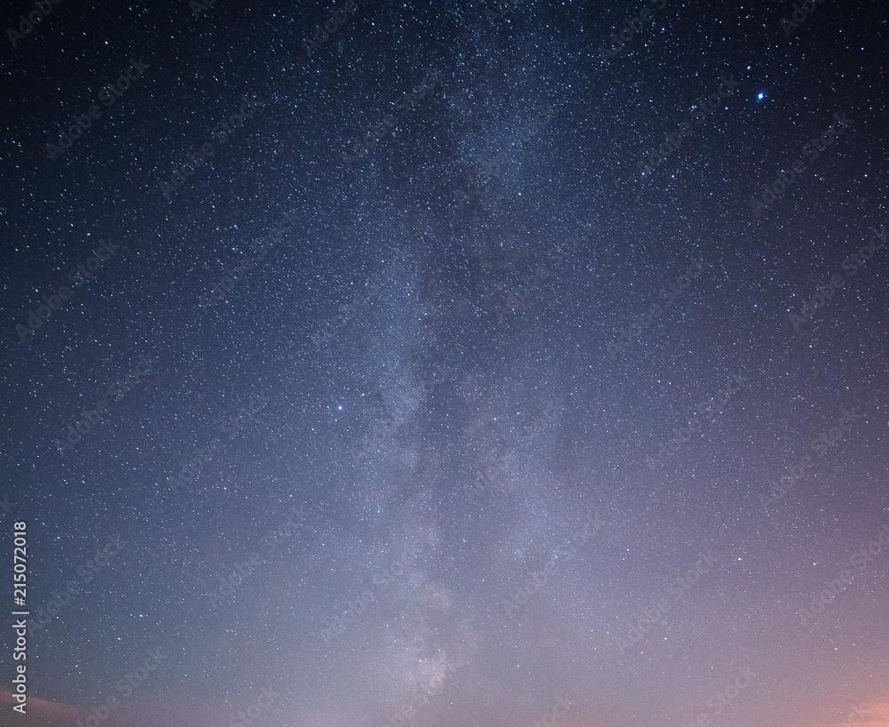 Fototapeta Beautiful night starry sky with Milky way.