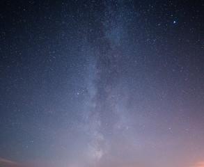 Beautiful night starry sky with Milky way.
