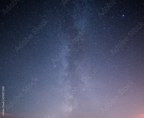 Fototapeta Beautiful night starry sky with Milky way. obraz