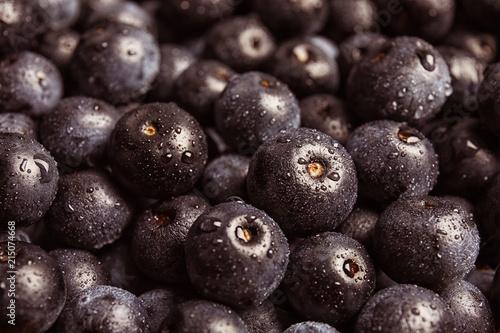 Photo Fresh acai berries as background