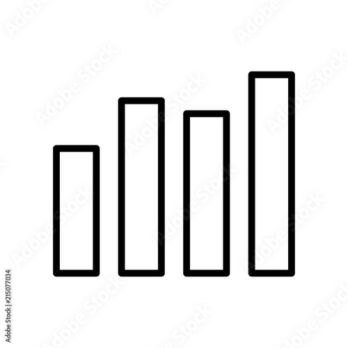 Fotografía  Bar Chart icon vector icon