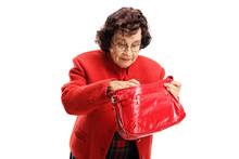 Senior Lady Searching Through Her Bag