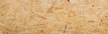 Panorama Of Pressed Wooden Panel Background - Texture Of Oriented Strand Board - OSB Wood Texture