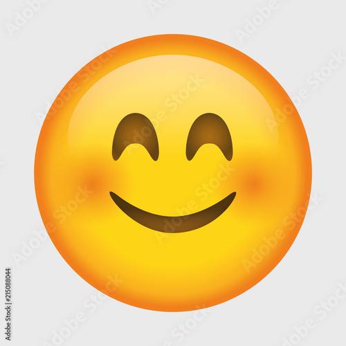 Cute smiling emoji Canvas Print