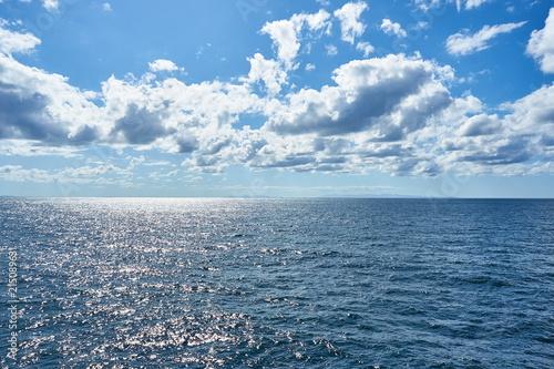 Poster Zee / Oceaan フェリー上からの新潟沖の景色