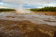 Geyser, zona geotermal Strokkur en, Islandia
